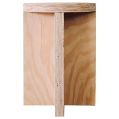 Plywood Round Top Foundation Stool