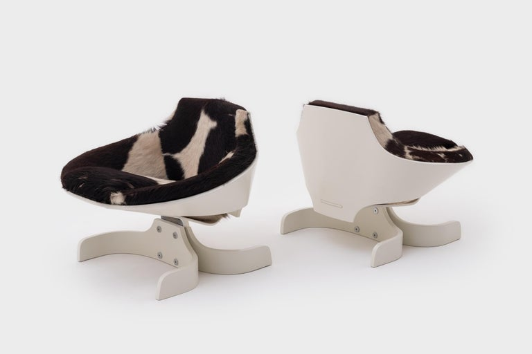 Mid-Century Modern Plywood 'Sella 1001' Lounge Chairs by Joe Colombo, Italy, 1963 For Sale