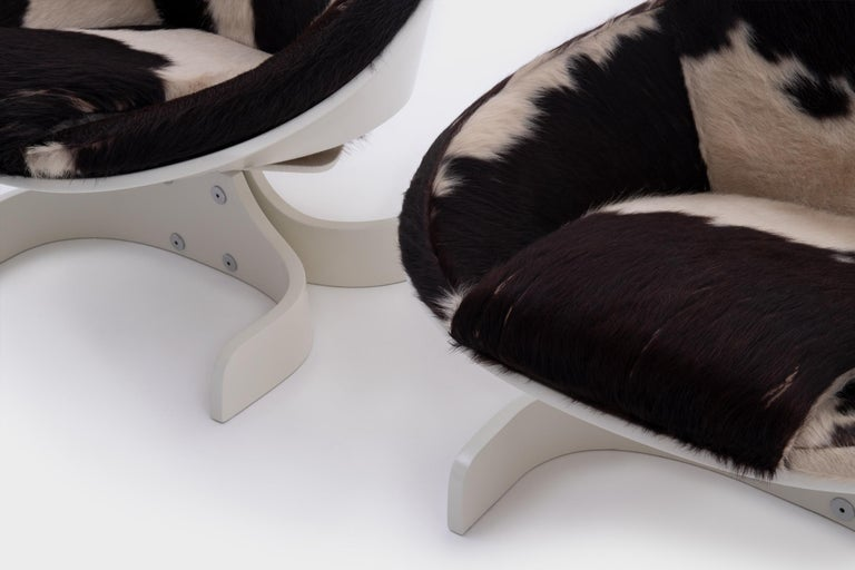 European Plywood 'Sella 1001' Lounge Chairs by Joe Colombo, Italy, 1963 For Sale