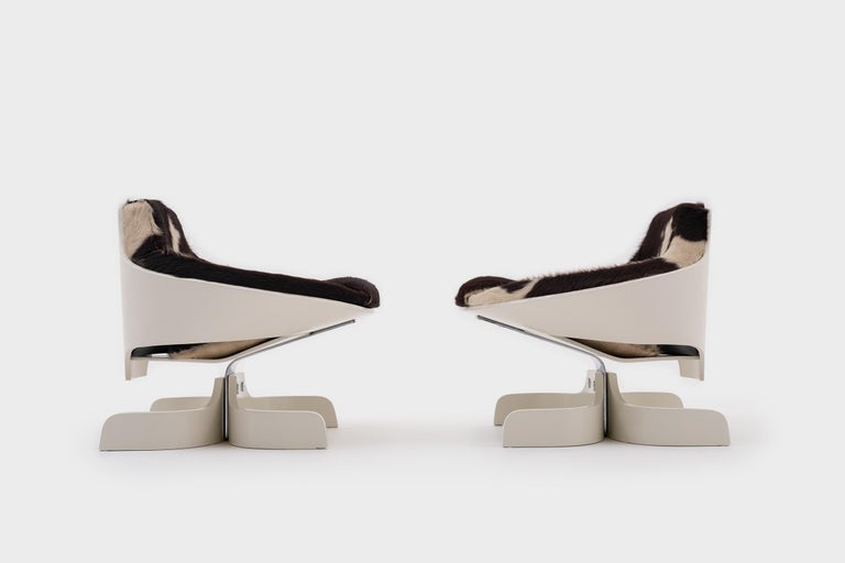 Plywood 'Sella 1001' Lounge Chairs by Joe Colombo, Italy, 1963 For Sale 1