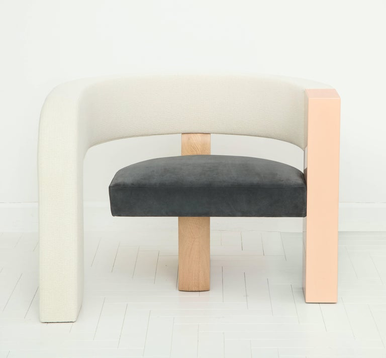 Designed over a series of late-night emails between longtime friends, the pnKRck lounge chair is the result of interior designer Kelly Behun and fashion designer Narciso Rodriguez considering the nature of a chair and the many possibilities it