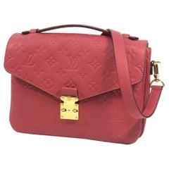 Louis Vuitton Pochette  Metis MM  Womens  handbag M43737  rose Bruyere Leather