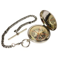 Pocket Brass Compass Used by the Royal Air Force Officers of 1916