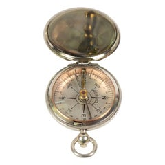 Pocket Compass Aurapole, 1915, Brass, Made in England