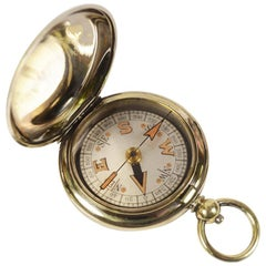 Pocket Compass for a RAF Officer Signed Terrasse W. Co 1918