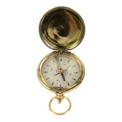 Pocket Compass Signed by Pathfinder Japan Made of Brass