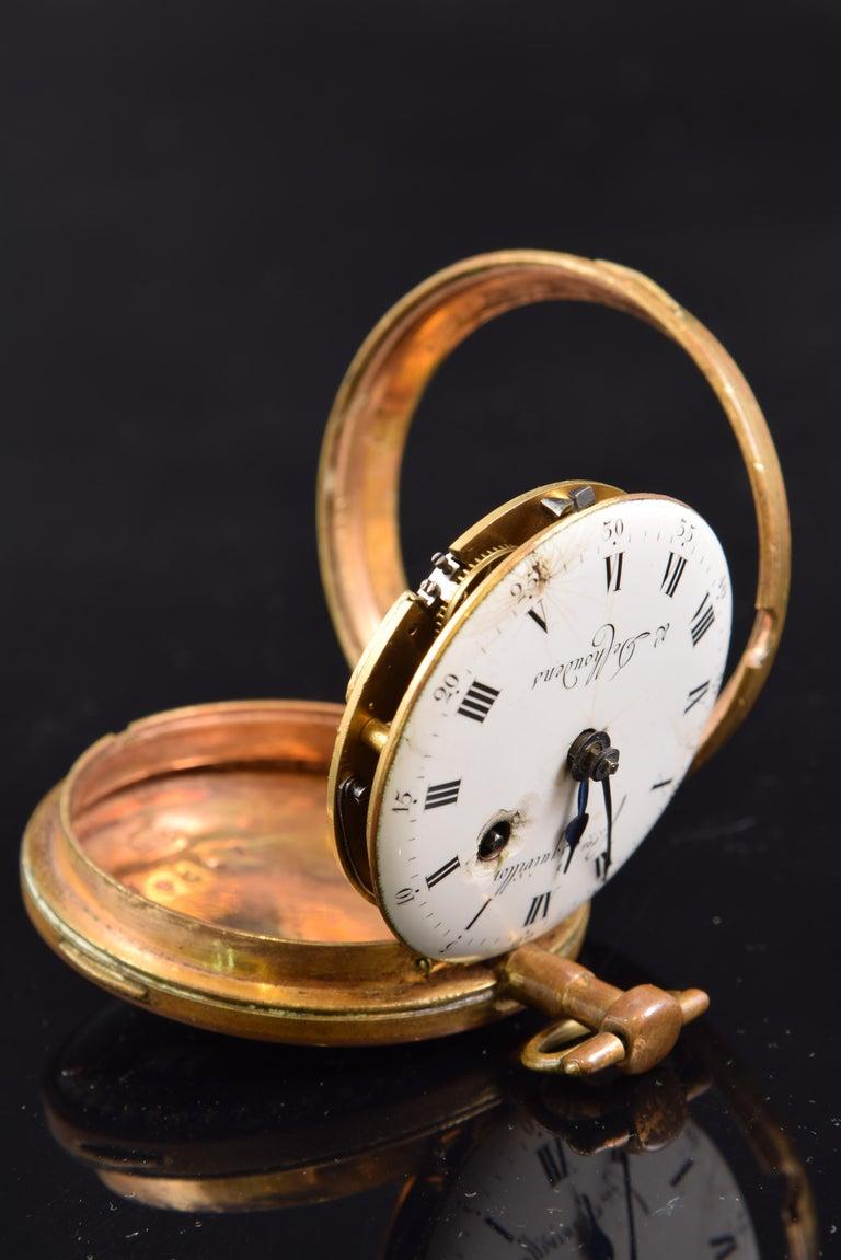 French Pocket Watch, Frères Esquivillon & De Choudens, Paris, France For Sale