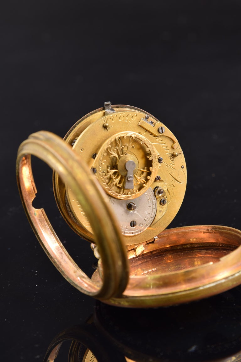 Pocket Watch, Frères Esquivillon & De Choudens, Paris, France In Fair Condition For Sale In Madrid, ES