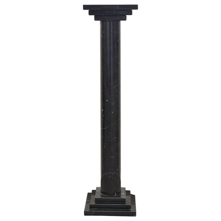 Podium or Column in Spanish Nero Maquina Black Marble by Element&Co For Sale