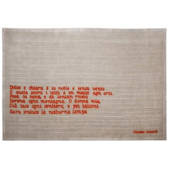 Poeta Carpet, Hand Knotted, 100knots, Wool, Pietro Derossi