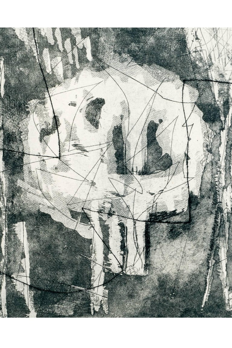 Louise Nevelson, Limited Edition Poetic Black and Grey Etching with Aquatint  In Excellent Condition For Sale In New York, NY