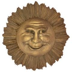 Poetic Sun in Gilded Wood, circa 1900