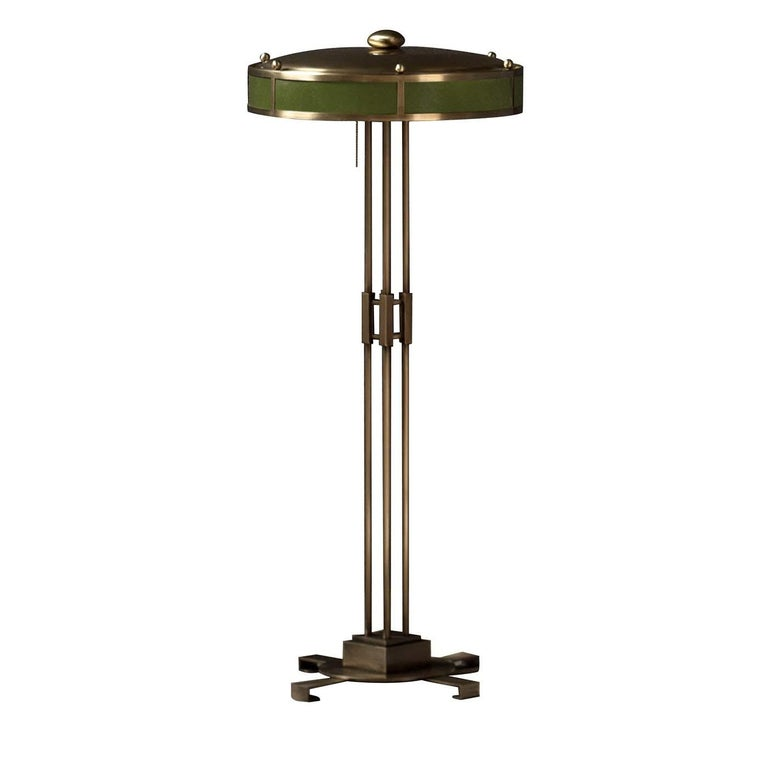 Italian Poggibonsi Green Floor Lamp