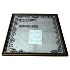 Poignant George III Period Unfinished Sampler by Margaret Penrose Robinson 1809