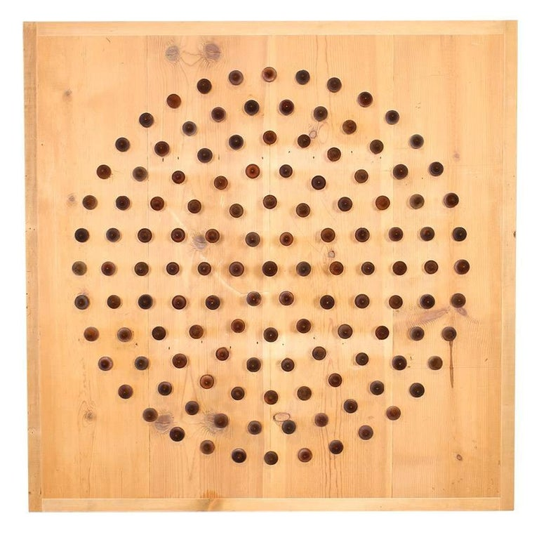 Contemporary 'Point of View' Wooden Spindle Textile Sculpture For Sale