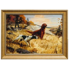 """Pointer & Setter"" Original Oil Painting by Henry Hintermeister"