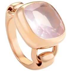 Poiray 18 Karat Rose Gold Pink Quartz Ring PPD3150