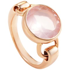 Poiray 18 Karat Rose Gold Pink Quartz Ring PPD3350