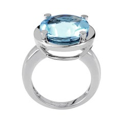 Poiray 18 Karat White Gold Topaz Ring PPD2140
