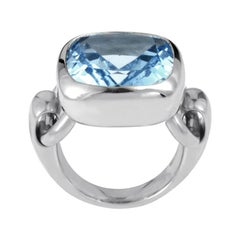 Poiray 18 Karat White Gold Topaz Ring PPD2140Z