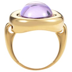 Poiray 18 Karat Yellow Gold Amethyst Ring PPD1860