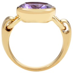 Poiray 18 Karat Yellow Gold Amethyst Ring PPD3065