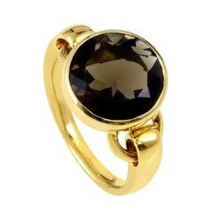 Poiray 18 Karat Yellow Gold Smoky Quartz Ring PPD1310