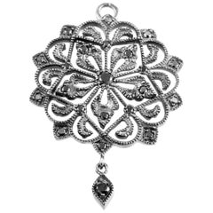 Poiray White Gold Black Diamond Pendant