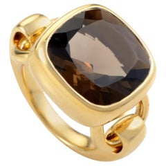 Poiray 18K Yellow Gold Smoky Quartz Ring