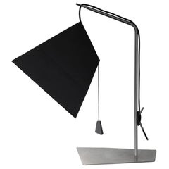Poise, Table Lamp in Paper, Stainless Steel and Lead, YMER&MALTA, France