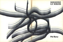 1969 Pol Bury 'DLM No. 178 Cover' Expressionism Black & White Lithograph