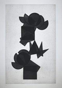 Untitled - Original Etching by Pol Bury - 1974