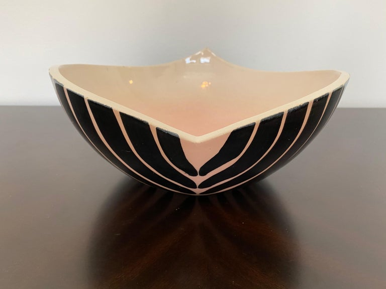 Pol Chambost 1950s French Pottery Bowl For Sale 4