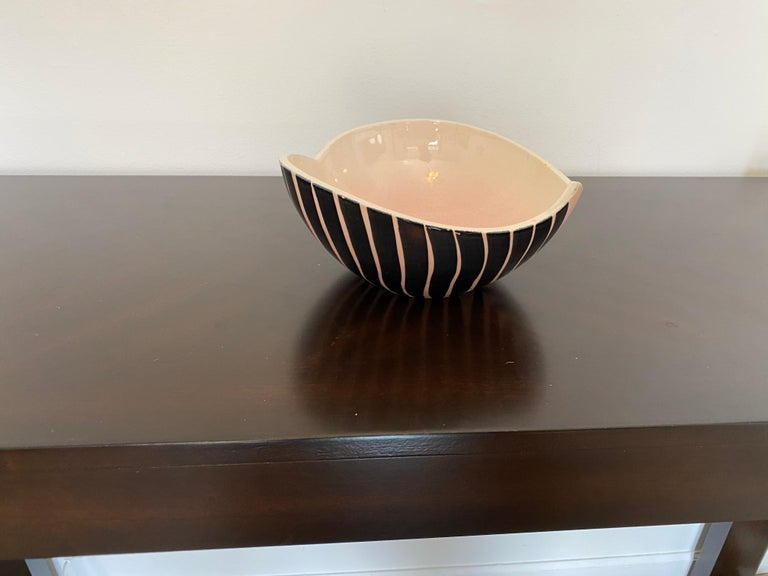 Pol Chambost 1950s French Pottery Bowl For Sale 6