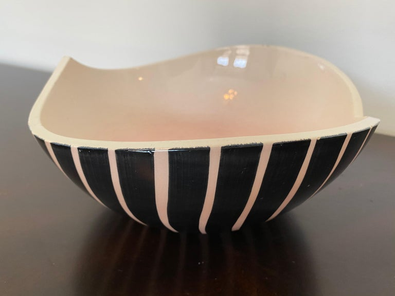 Pol Chambost 1950s French Pottery Bowl For Sale 8