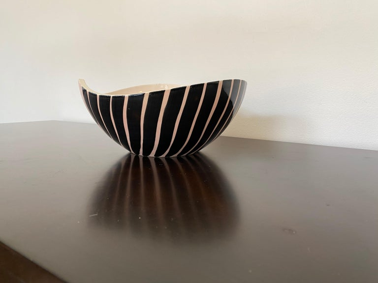 Pol Chambost 1950s French Pottery Bowl For Sale 9