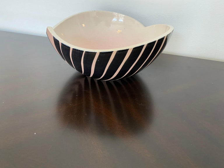 Pol Chambost 1950s French Pottery Bowl For Sale 10