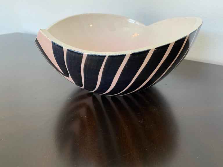 Pol Chambost 1950s French Pottery Bowl For Sale 11