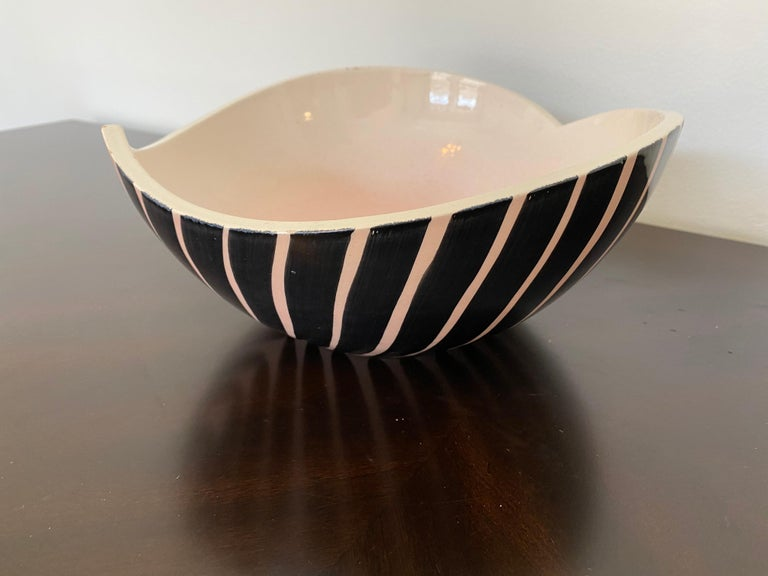 Pol Chambost 1950s French Pottery Bowl For Sale 3