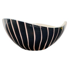 Pol Chambost 1950s French Pottery Bowl