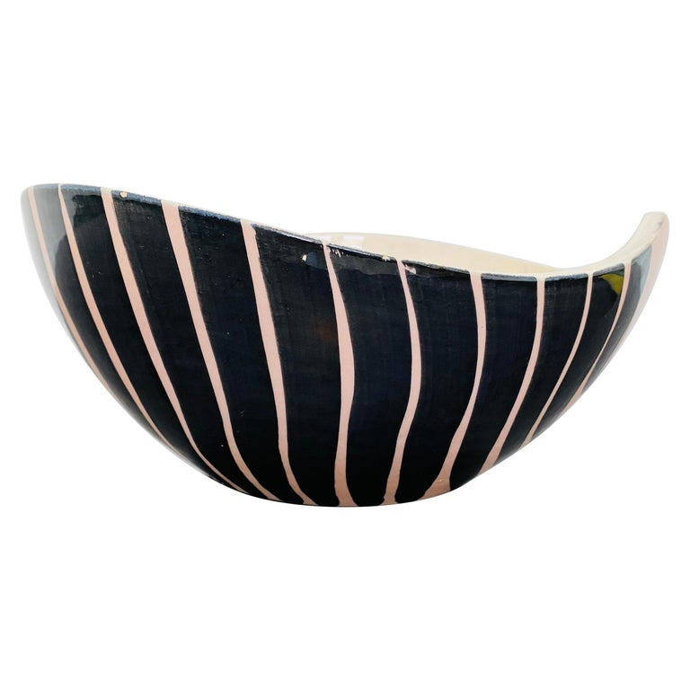 Pol Chambost 1950s French Pottery Bowl For Sale