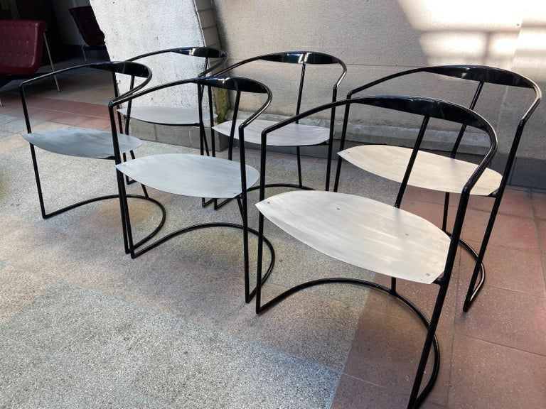 Contemporary Pol Quadens, Set of Table and 6 Chairs, 2000 For Sale
