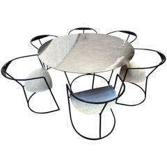 Pol Quadens, Set of Table and 6 Chairs, 2000