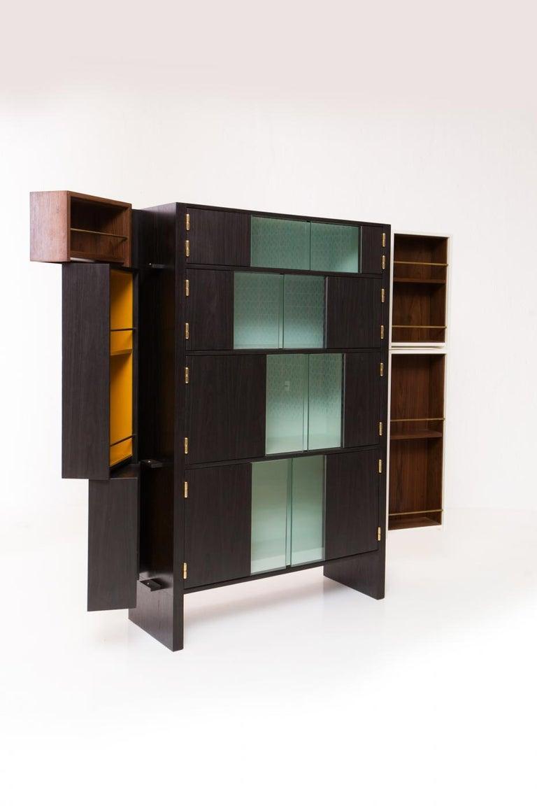 Wood Pola Bar by Alva Design, Contemporary Brazilian Design For Sale