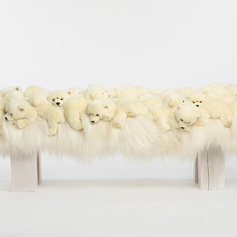 Belgian Polar Bear Bench in Limited Edition For Sale