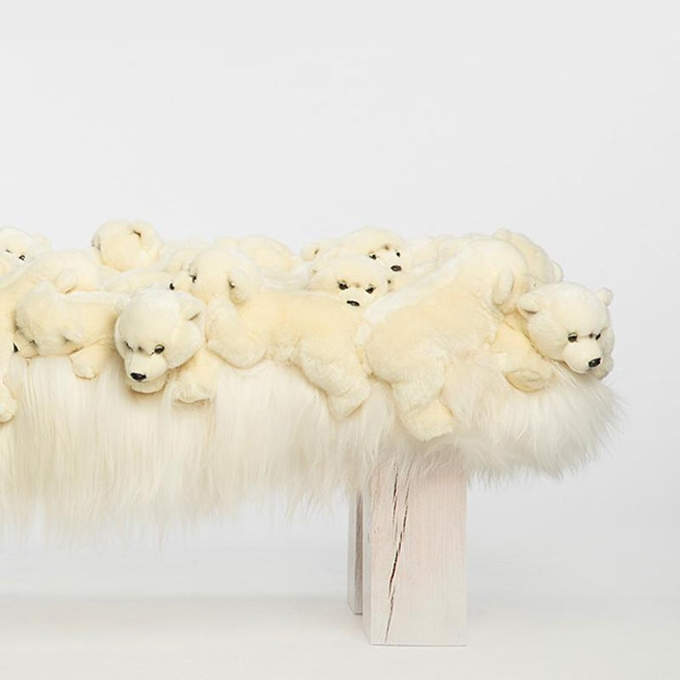 Contemporary Polar Bear Bench in Limited Edition For Sale