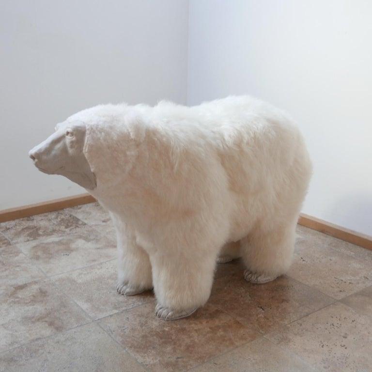 Powder-Coated Polar Bear Contemporary Art by Jose Granell Sculpture