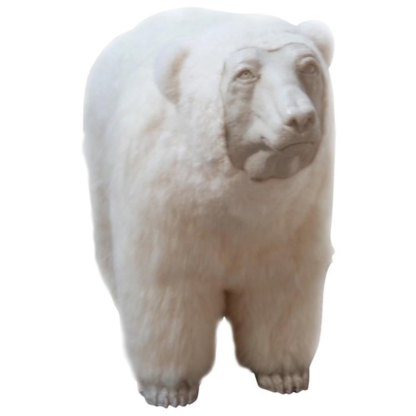 Polar Bear Contemporary Art by Jose Granell Sculpture