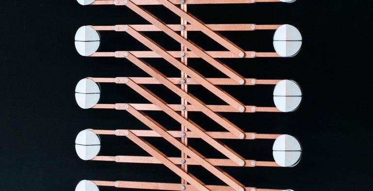 Art Deco Polar Play Pendant Light, Copper Decorative Light, by Vantot, Europe For Sale