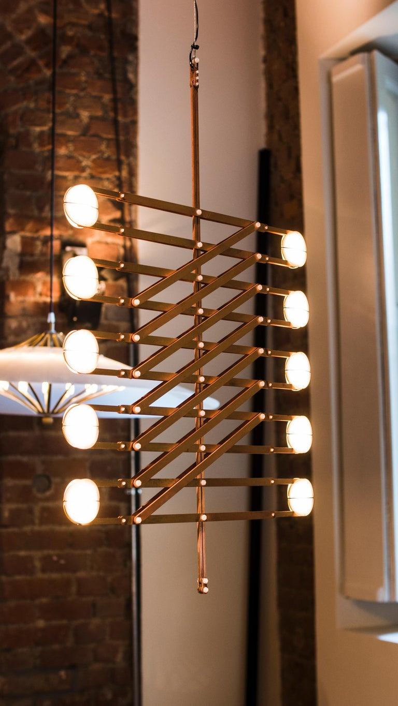 Dutch Polar Play Pendant Light, Copper Decorative Light, by Vantot, Europe For Sale